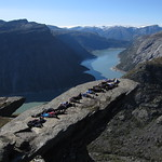 Trolltunga, students from Framnes
