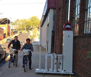 Riding the Kansas City B Cycle bikes