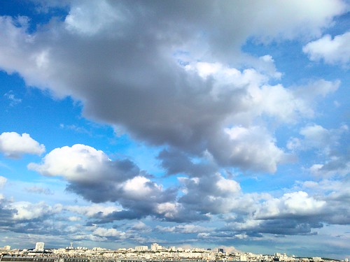 Clouds on Northeastern Paris
