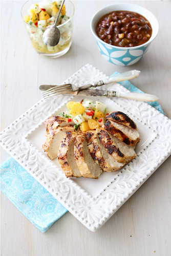 Grilled Chicken Recipe with Jicama & Orange Sal