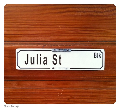 Julia St (a street in Key West) also Julia's sewing room :)
