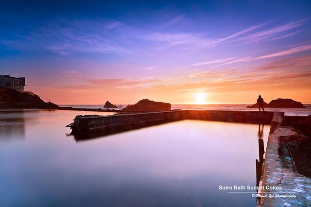 Sutro Bath Sunset Colors