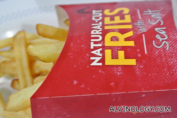 Natural-cut fries with sea salt