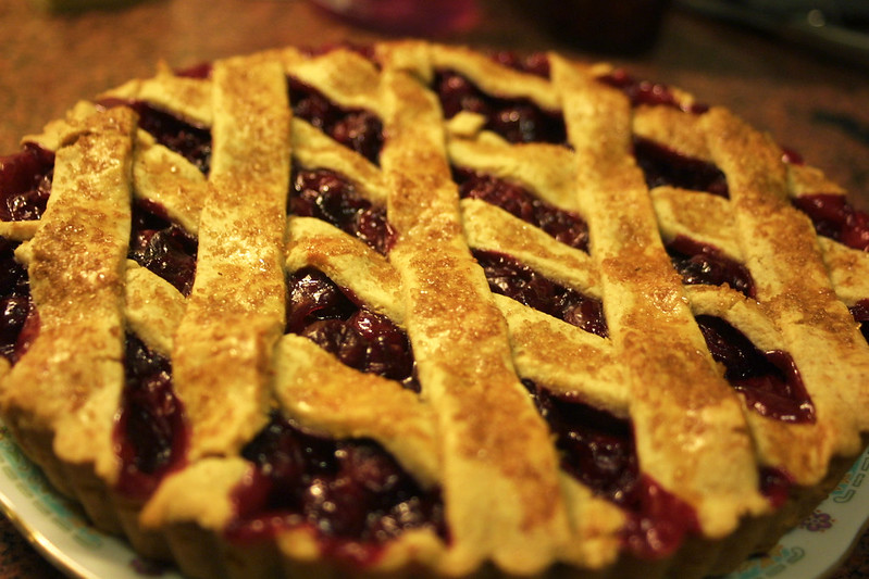 Sour cherry crostata