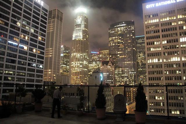 LA skyline from LAAC's roof by Caroline on Crack