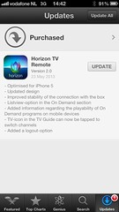 Horizon TV Remote 2.0 app update