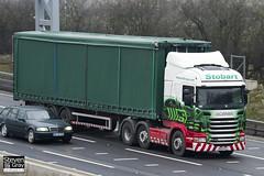 Scania R440 6x2 Tractor - PE12 PZJ - Dayna Marie - Eddie Stobart - M1 J10 Luton - Steven Gray - IMG_2950