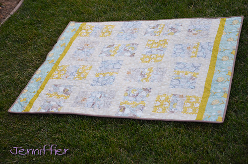 Timber and Leaf Low volume quilt