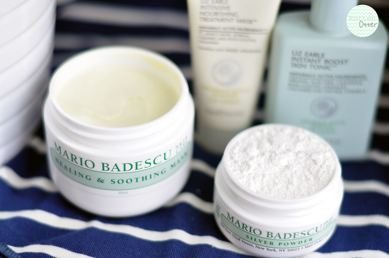 trio of masks mario badescu soothing and calming silver powder liz earle nourishing rottenotter rotten otter blog 2