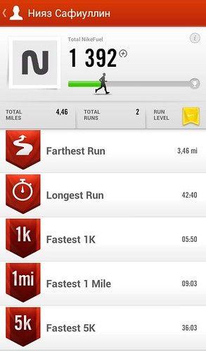 Nike+ Running для Android