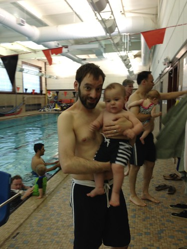 Elliott and Daddy at Swim Class