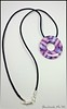 polymer clay Shades of Purple necklace