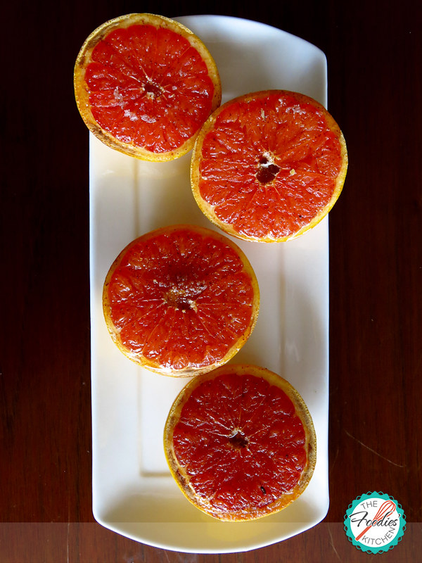 Roasted Red Grapefruit with Honey and Yogurt