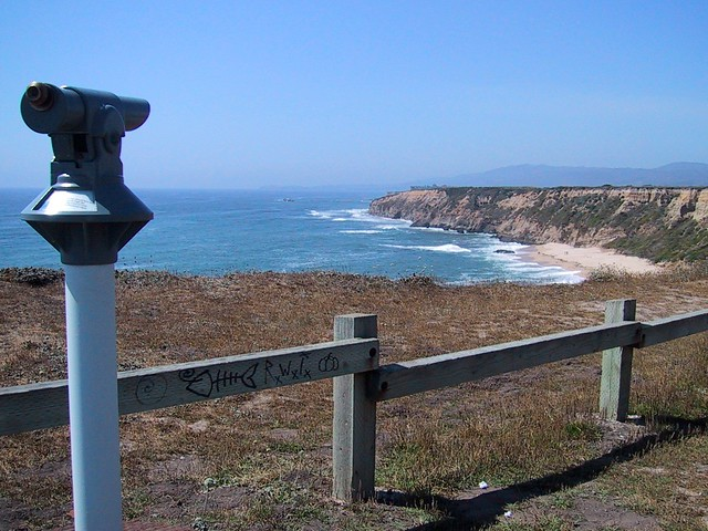 Telescope and Cliffs on Highway 1