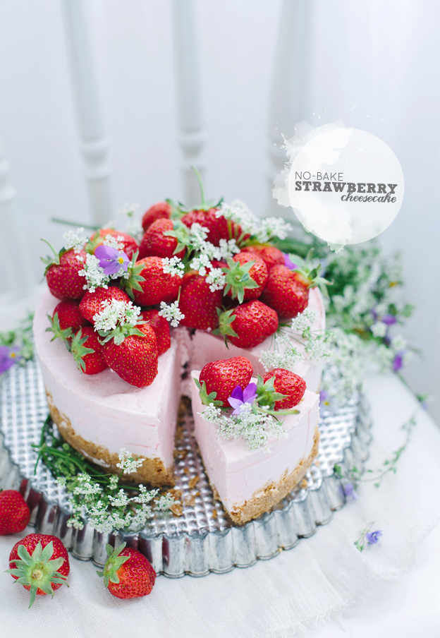 Call me cupcake: No-bake strawberry cheesecake