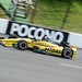 Graham Rahal rolls down the front stretch at Pocono Raceway
