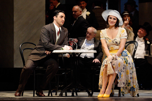 Charles Castronovo as Ruggero Lastouc and Angela Gheorghiu as Magda de Civry in La rondine © ROH / Catherine Ashmore 2013