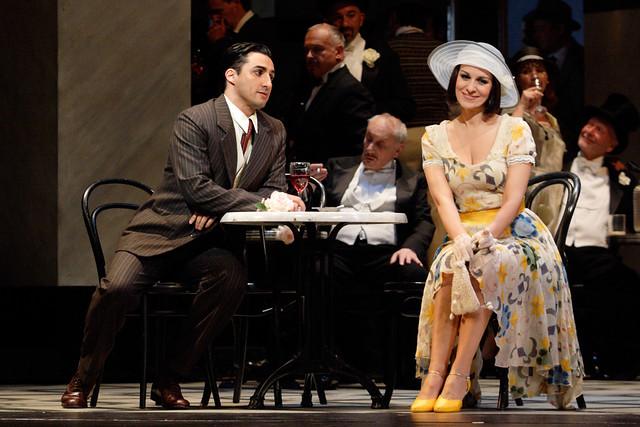 Charles Castronovo as Ruggero Lastouc and Angela Gheorghiu as Magda de Civry in La rondine © ROH / Catherine Ashmore 2013