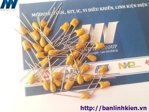 Tụ Tantalum 103-10nF DIP5.08 (Sứ Vàng) (10PCS)