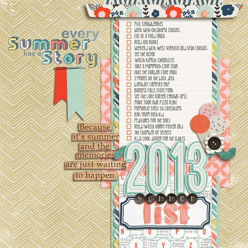 2013 summer bucket list