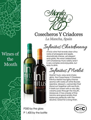 manila hotel wine of the month
