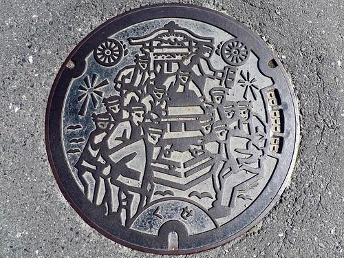Kuse Okayama , manhole cover (岡山県久世町のマンホール)