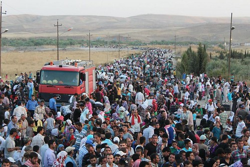 Syrians stream from their war-torn country into Iraq's Kurdistan region