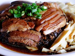 pot roast(0.0), meal(1.0), steak(1.0), char siu(1.0), pork chop(1.0), rib eye steak(1.0), meat(1.0), sirloin steak(1.0), food(1.0), dish(1.0), cuisine(1.0), teriyaki(1.0),