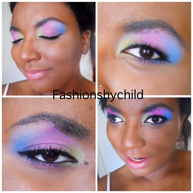 Bright popping eye look