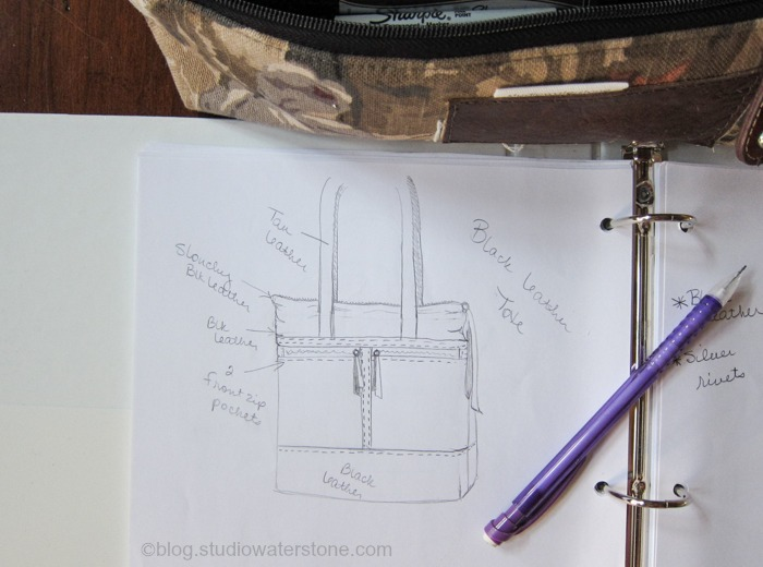 my sketchbook - a new bag design