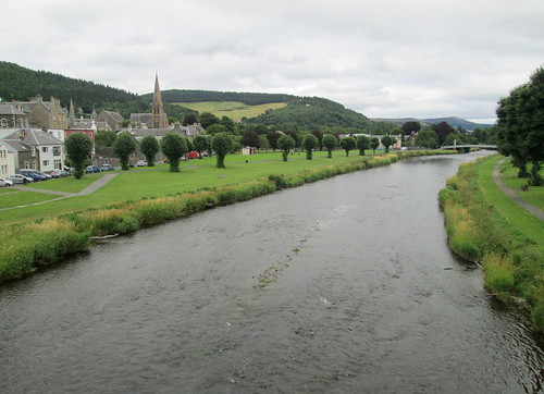 Peebles and the River  Tweed