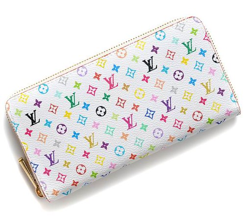 Louis Vuitton Monogram Zippy Wallet White
