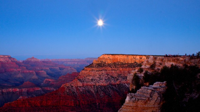 Full Moon Over the Grand Canyon Long Exposure