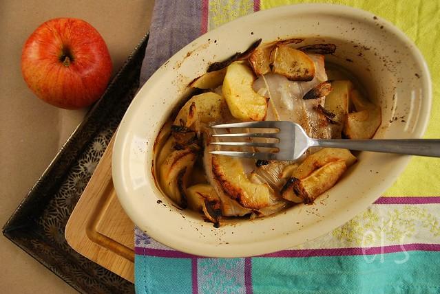 Rôti de porc aux pommes