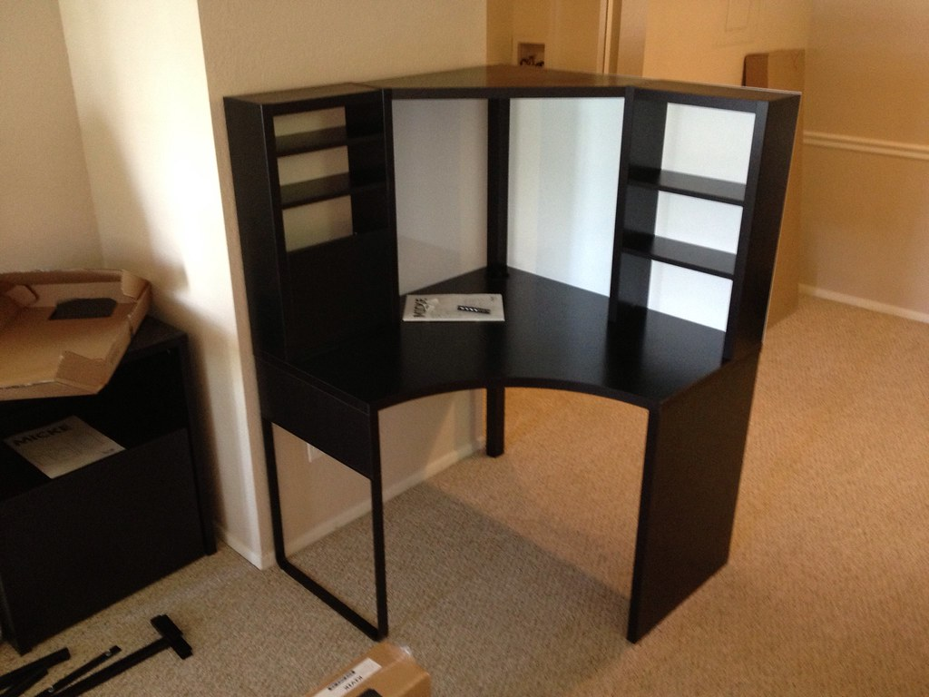 Delightful Office Furniture Assembly: Assembling An IKEA MICKE Desk (after We Got To  Assemble It