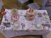 VIntage table by Vintage Rose Catering of Derbyshire
