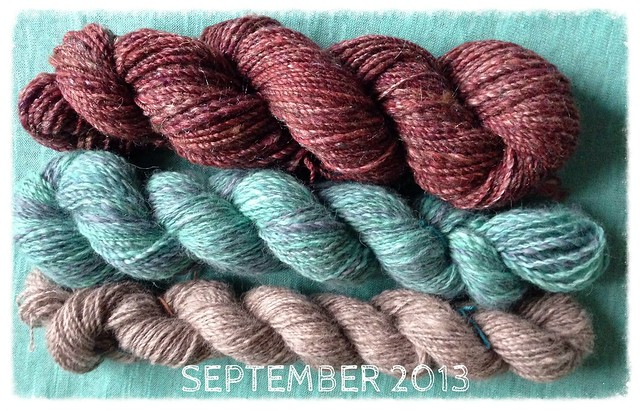 September 2013's handspun yarn