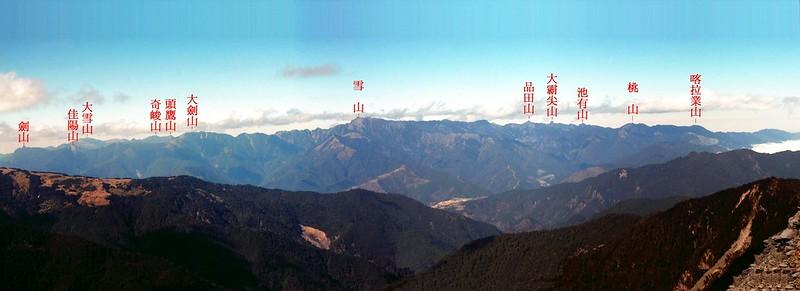 雪霸連稜(From 無明山) 3-1
