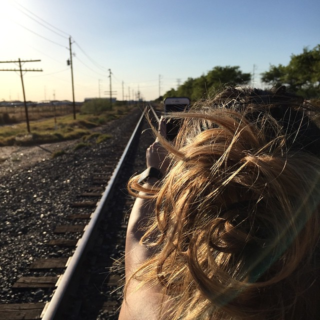 Selfie on the tracks by bartle_man
