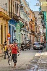 Cuba, Havana street scene.