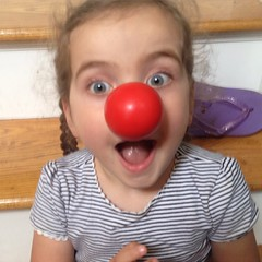 Ashlin was totally into #rednose  #rednoseday. @rednoseday