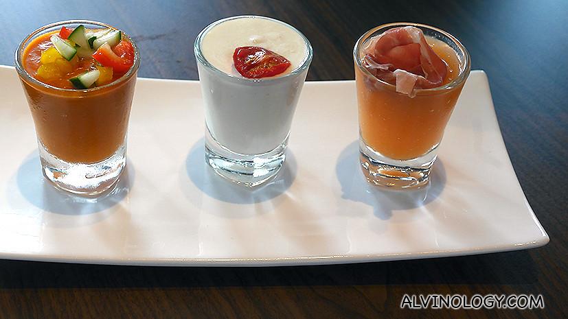 Cold Soup Chupitos (x3) - S$8.00