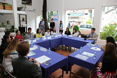 U.S. Ambassador to ASEAN Nina Hachigian visits WECREATE CAMBODIA, an initiative of the U.S. Department of State to establish physical entrepreneurial community centers for women to gain access to resources required for starting or growing businesses.