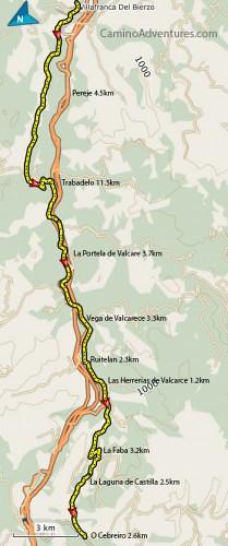 Villafrance-del-Bierzo-to-O-Cebreiro-Map-209x500