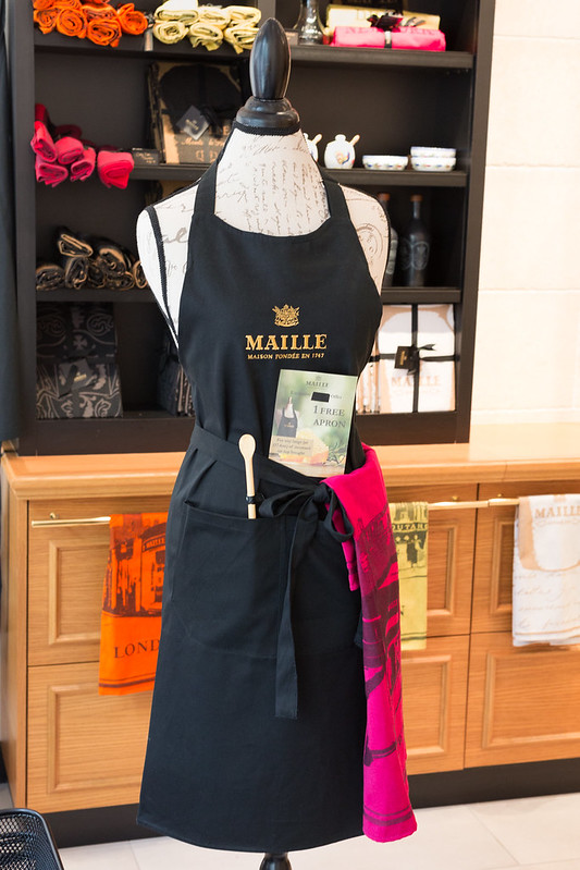Maille Apron Display - Flatiron, NYC
