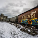 Street art Canada train by Phg Voyager
