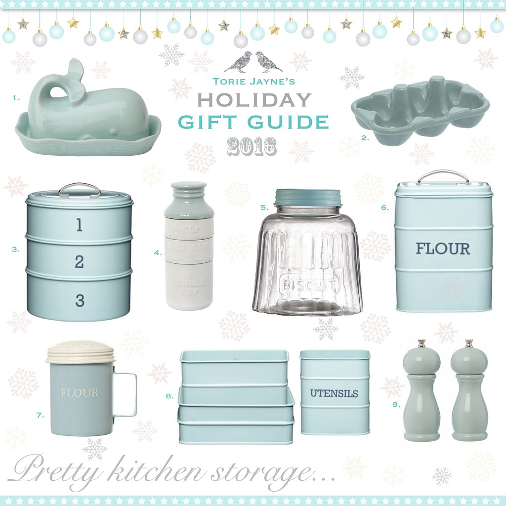 Pretty Kitchen storage...Gift Guide 2016