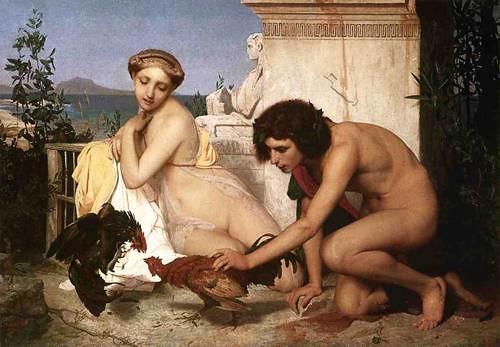 Jean-Leon_Gerome_XX__The_Cock_Fight_1846