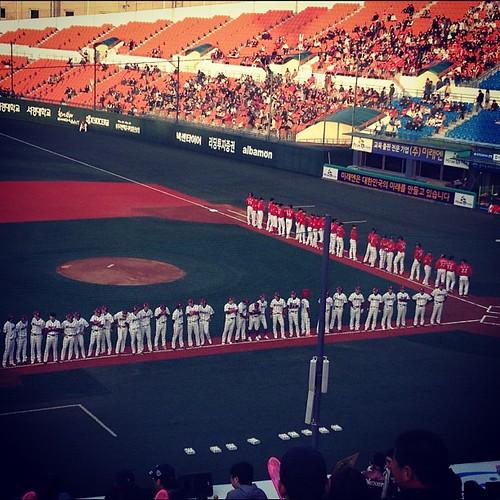목동구장 개막이다!!!! #koreanbaseball #season #open !! #mokdong #stadium