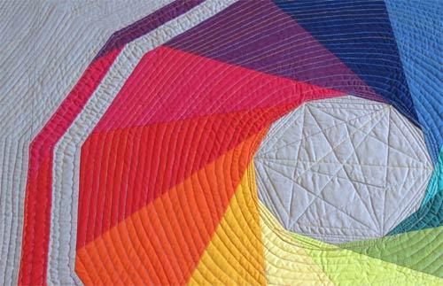 rainbow quilt-detail